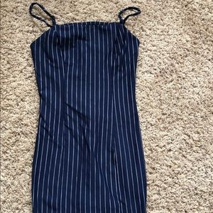 FOREVER 21 striped body con dress